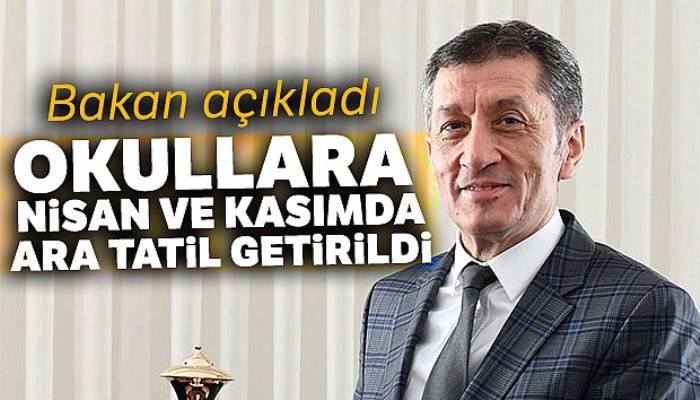 Milli Eğitim Bakanı Ziya Selçuk'tan yeni eğitim takvimine ilişkin açıklama!