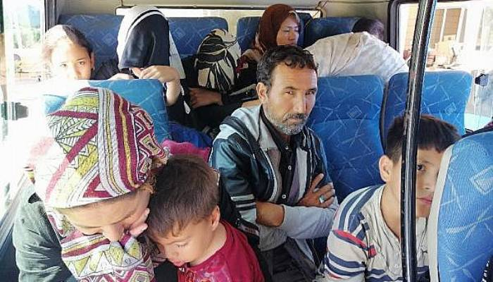 Ayvacık'ta 97 kaçak göçmen yakalandı (VİDEO)