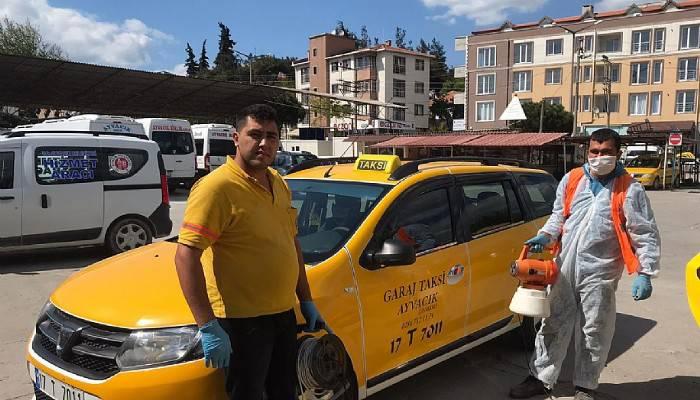 Ayvacık'ta Taksiciler İşbaşında