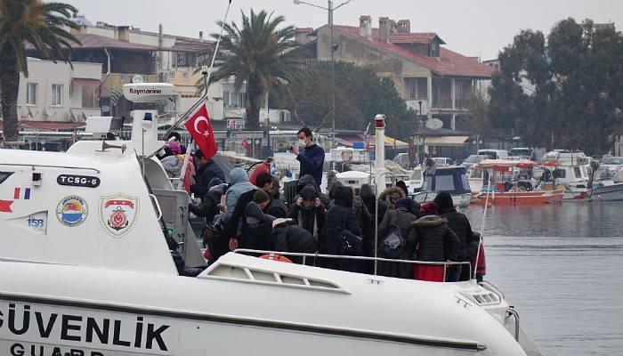 Ayvacık açıklarında, 37 kaçak göçmen yakalandı (VİDEO)