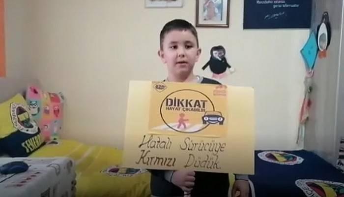Karayolu Güvenliği ve Trafik Haftası'na çocuklardan farkındalık klibi (VİDEO)