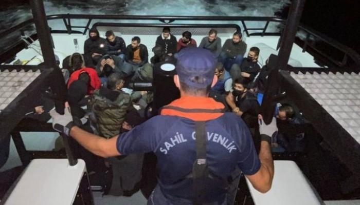 Gemide 35 kaçak göçmen yakalandı