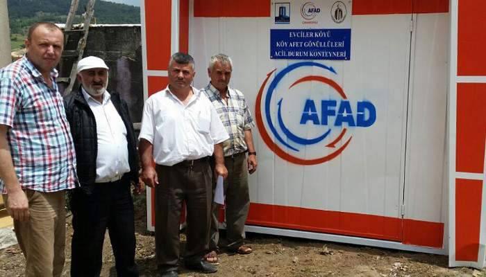AFAD'DAN 'ACİL DURUM' KONTEYNERİ