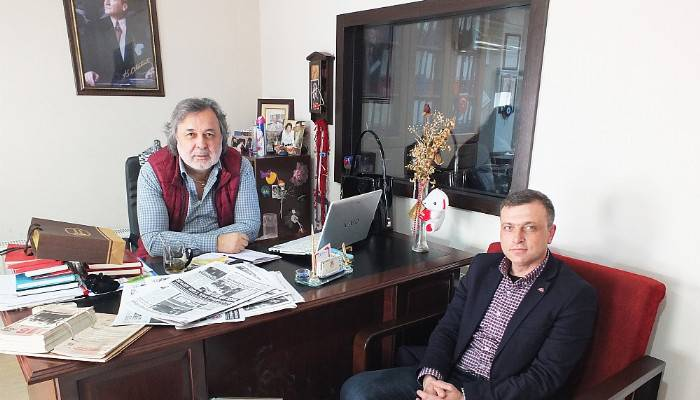 MHP Merkez İlçe Başkanı Boğaz Medya'yı ziyaret etti
