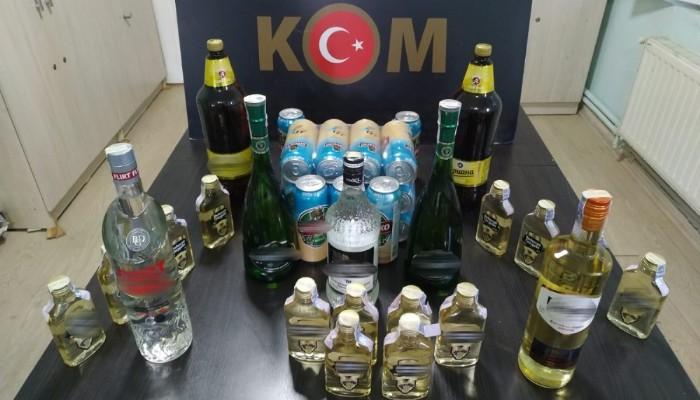 Çanakkale'de kaçak içki operasyonuna 1 gözaltı