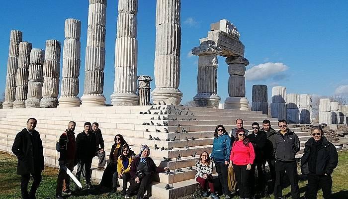 Turist rehberleri eğitim gezisinde