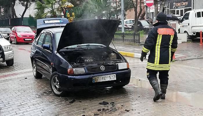 Biga'da araç yangını