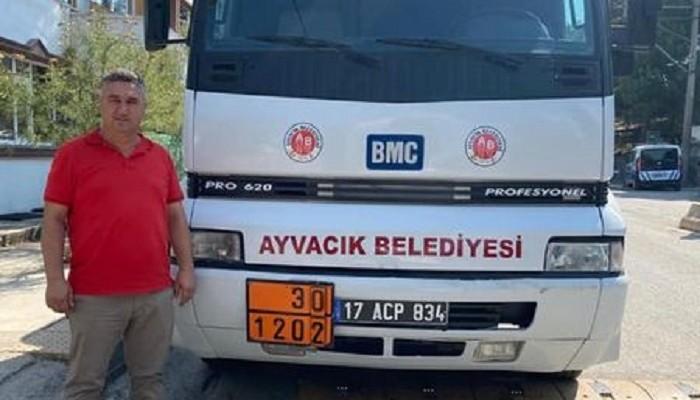 İzmir Büyükşehir Belediyesi'nden Ayvacık Belediyesi'ne hibe araç