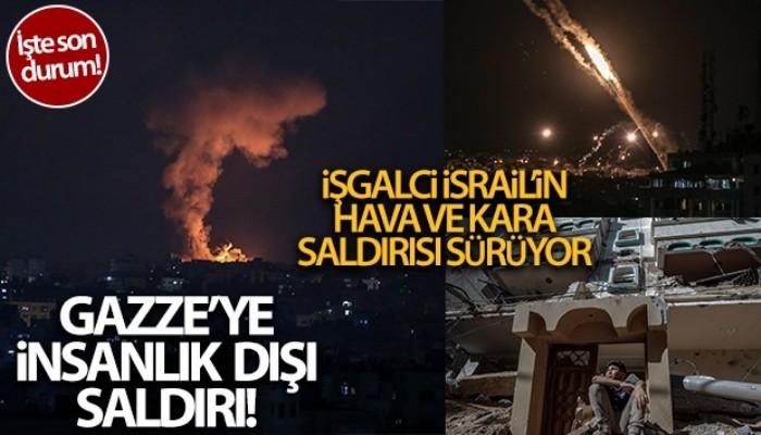 İsrail'den Gazze Şeridi'ne hava ve kara operasyonu!