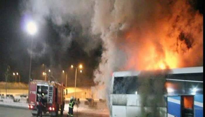 Çanakkale'den Antalya'ya giden otobüs, Burdur'da yandı