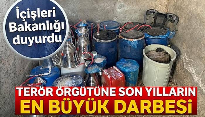 İçişleri Bakanlığı: 'Şırnak'ta 2 ton patlayıcı, 300 elektrikli fünye, 700 metre infilaklı fitil ele geçirildi'