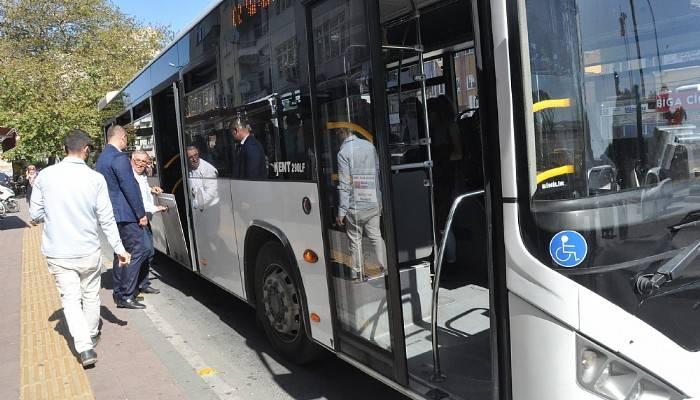 Belediye otobüslerine denetim yapıldı