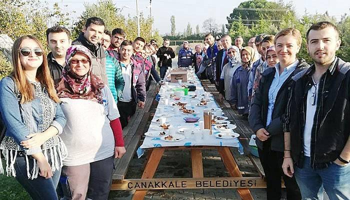 Park ve Bahçeler Müdürlüğü personeli kahvaltıda buluştu