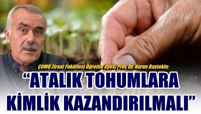 Prof. Dr. Baytekin; 'ATALIK TOHUMLARA KİMLİK KAZANDIRILMALI'