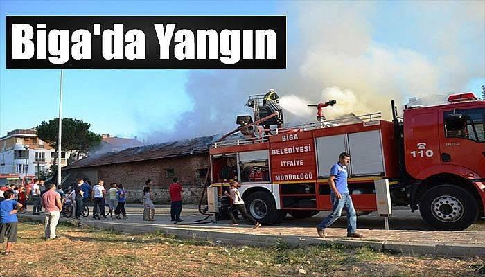 Biga'da yangın
