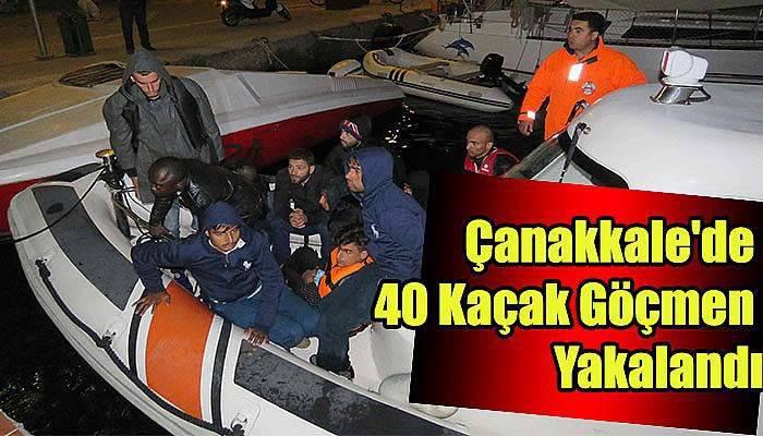 Çanakkale'de 40 kaçak göçmen yakalandı