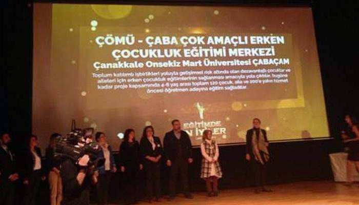 ÇOMÜ ÇABAÇAM 'Eğitimde En İyiler' Ödülü aldı