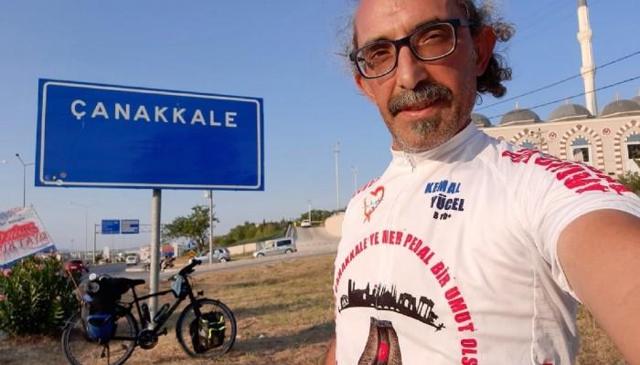 Pedal Çevirerek Adana'dan Çanakkale'ye Kadar Umut Aradı