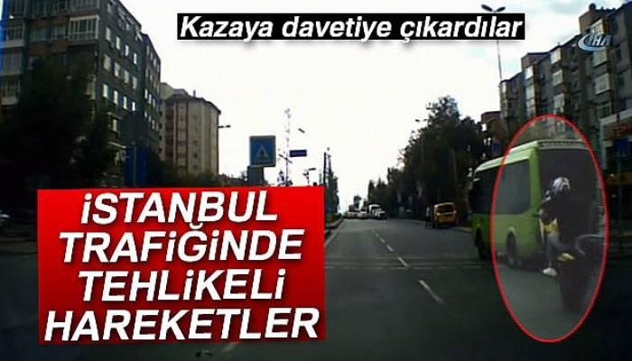 İstanbul trafiğinde tehlikeli hareketler