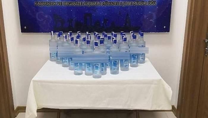 İş Yerinde 54 Şişe Kaçak İçki Ele Geçirildi