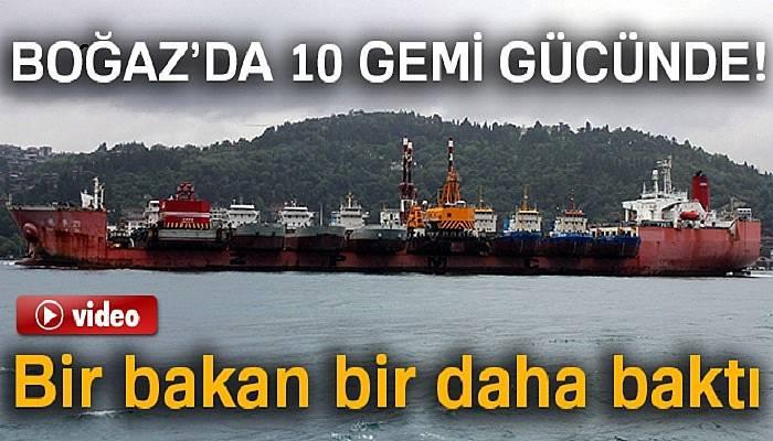 İstanbul Boğazı'nda ilginç görüntü!