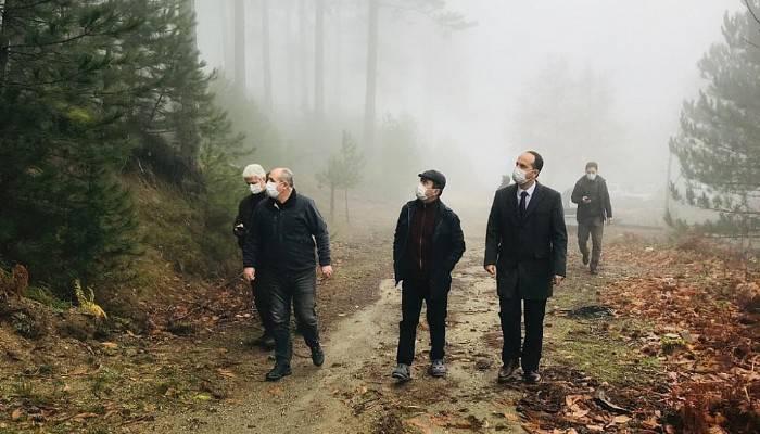 Vali Aktaş, bal ormanları proje sahalarını gezdi