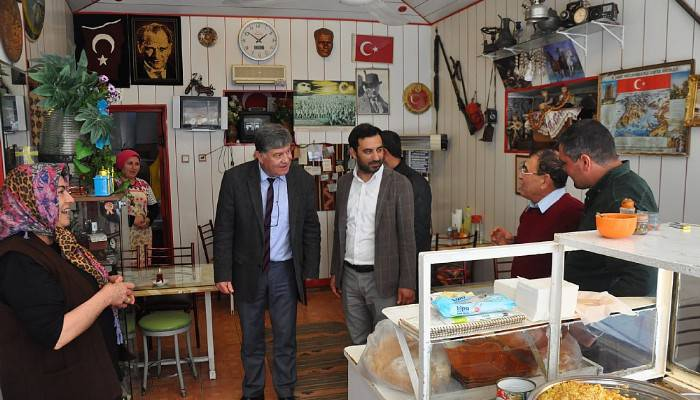Ayvacık'ta AK Parti'den referandum ziyareti