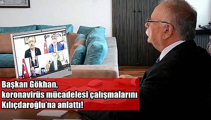 Başkan Gökhan, koronavirüs mücadelesi çalışmalarını Kılıçdaroğlu'na anlattı!
