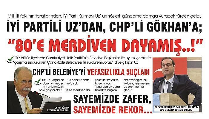 CHP' Lİ BELEDİYE' Yİ VEFASIZLIKLA SUÇLADI