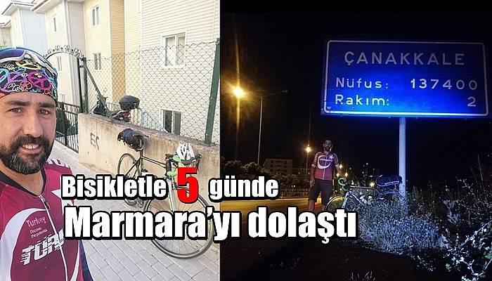 Bisikletle 5 günde Marmara'yı dolaştı