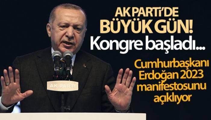 AK Parti'de büyük gün! Cumhurbaşkanı Erdoğan 2023 manifestosunu açıklıyor