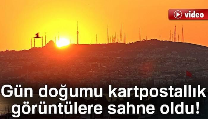 İstanbul'da gün doğumu kartpostallık görüntülere sahne oldu