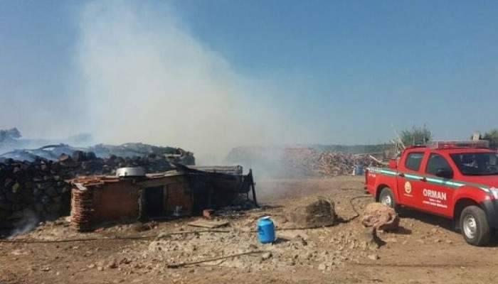 Budaklar'da Dam Yangını