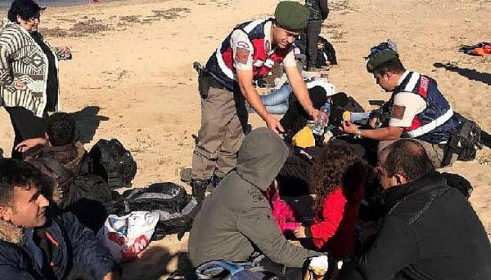 Ezine'de 51 Suriyeli kaçak ve 3 organizatör yakalandı (VİDEO)