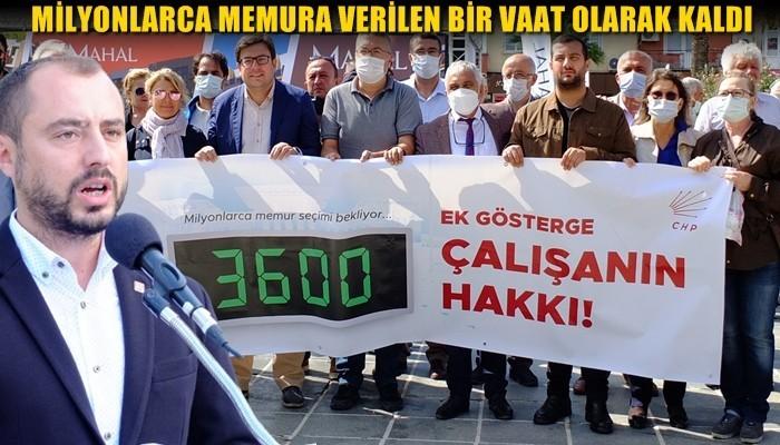 'Her zaman olduğu gibi yine 3600 Ek gösterge hakkı, milyonlarca memura verilen bir vaat olarak kaldı'