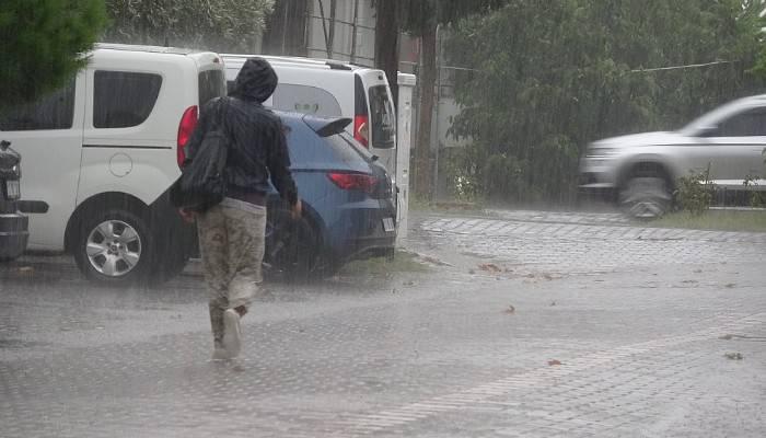 Çanakkale'de sağanak yağış(VİDEO)
