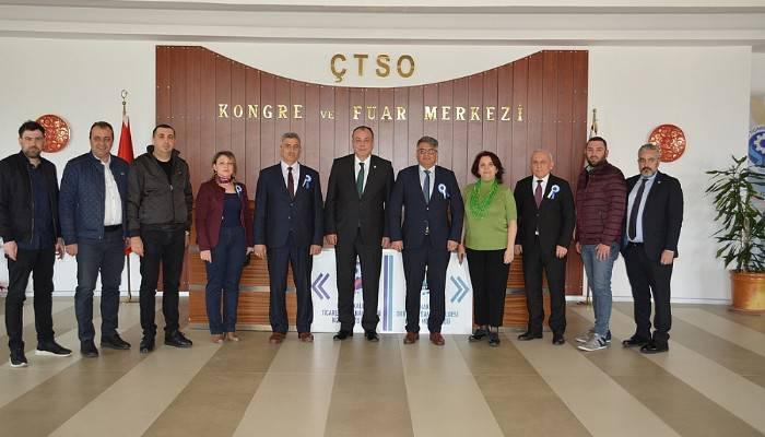 Çanakkale Defterdarlığı'ndan ÇTSO'ya ziyaret