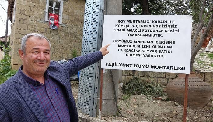 Köyde fotoğraf çekmek izne tabi (VİDEO)