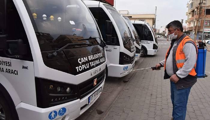Çan'da Covid-19 mücadelesinde belediyenin çalışmaları aralıksız sürüyor