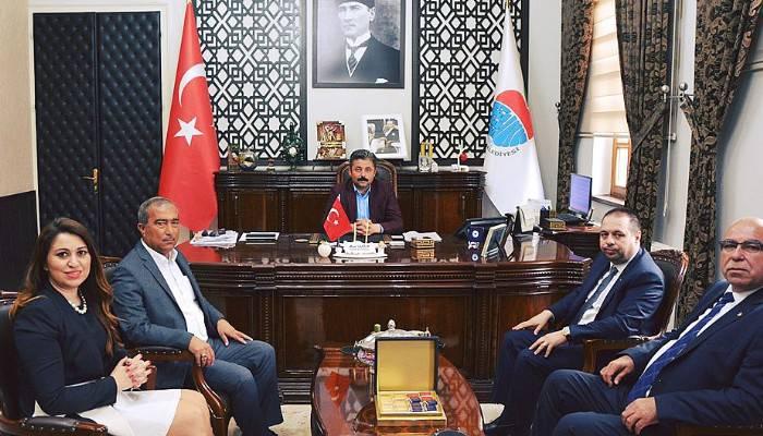 ÇTB Heyetinden Bayramiç Belediye Başkanına Ziyaret