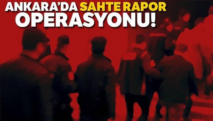 Ankara'da sahte engelli raporu operasyonu: 95 gözaltı
