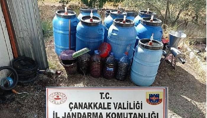 Çanakkale'de 1 ton 730 litre sahte içki ele geçirildi