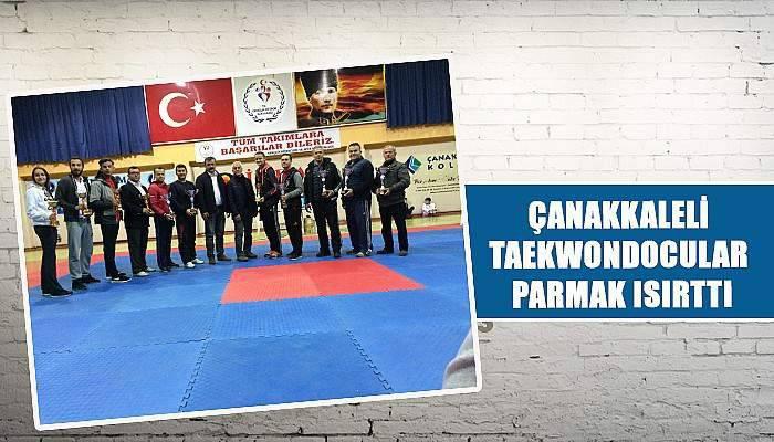 Çanakkaleli taekwondocular parmak ısırttı