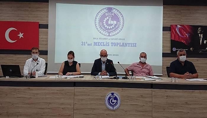 Biga TSO Ağustos ayı meclis toplantı yapıldı