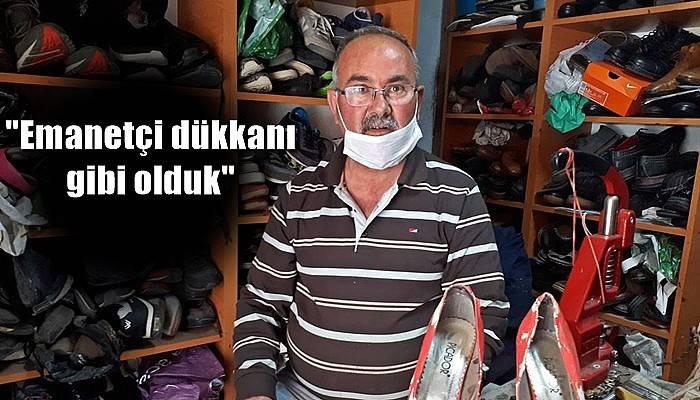 Ayakkabı ustası, tamire bırakılan ayakkabıların alınmamasından şikayetçi (VİDEO)