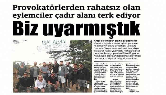 Provokatörlerden rahatsız olan eylemciler çadır alanı terk ediyor Biz uyarmıştık