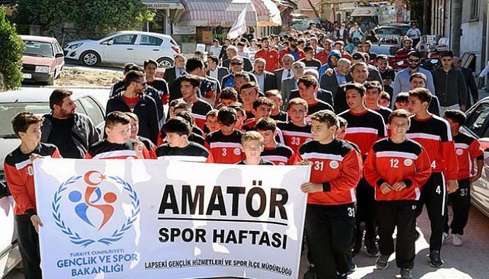 Lapseki'de Amatör Spor Haftası Etkinlikleri (VİDEO)