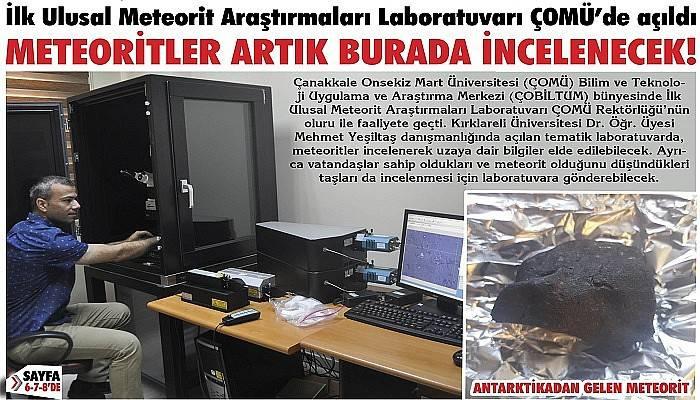 İlk Ulusal Meteorit Araştırmaları Laboratuvarı ÇOMÜ'de açıldı