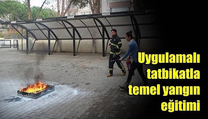 Uygulamalı tatbikatla temel yangın eğitimi