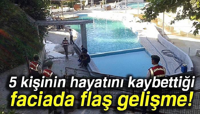 5 kişinin öldüğü havuzun elektrik tesisatını yapan şahıs gözaltında